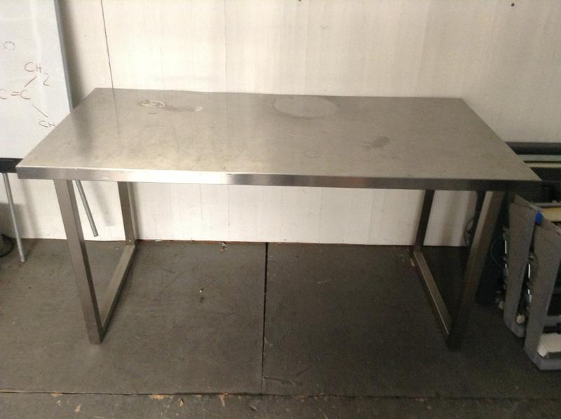 LCW Props Ft Stainless Steel Lab Table - 5 ft stainless steel table